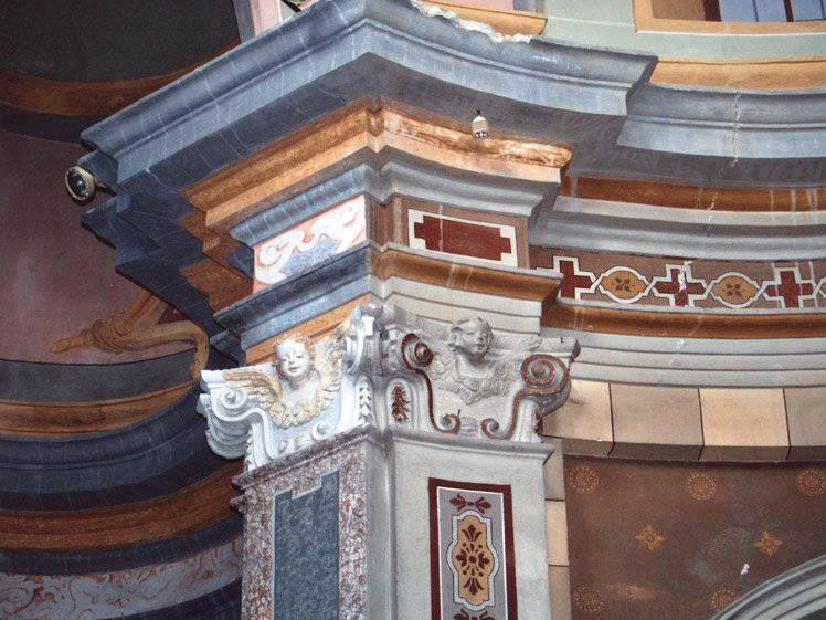 Restauro beni culturali, grandi restauri, restauro lapideo a Cumiana (TO) – Chiesa SS. Rocco e Sebastiano – XVIII-XIX Sec – Stucchi