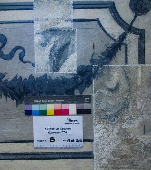 Diagnostica applicata ai beni culturali Castello di Guarene (CN) saggi stratigrafici